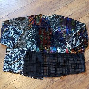 Anthropologie Tops - Anthropologie Floreat Velvet Kimono
